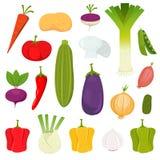 Icone delle verdure impostate Fotografia Stock