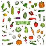 icone delle verdure impostate Fotografia Stock Libera da Diritti
