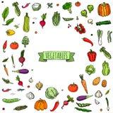 icone delle verdure impostate Fotografie Stock Libere da Diritti