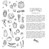 icone delle verdure impostate Immagine Stock Libera da Diritti