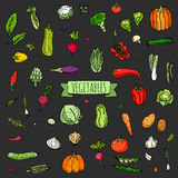 icone delle verdure impostate Immagini Stock