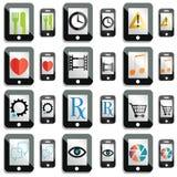 Icone dello schermo attivabile al tatto Immagini Stock Libere da Diritti