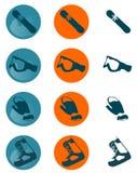 Icone dello Snowboard Fotografia Stock Libera da Diritti