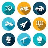 Icone dello spazio vettoriale messe Fotografia Stock