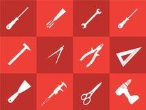 Icone dello strumento Fotografia Stock Libera da Diritti