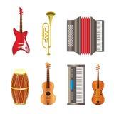 Icone dello strumento musicale Fotografie Stock