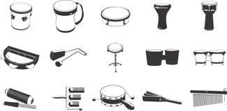 Icone dello strumento musicale Fotografia Stock
