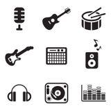 Icone dello studio di musica Immagini Stock Libere da Diritti