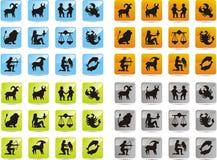 Icone dello zodiaco Fotografia Stock