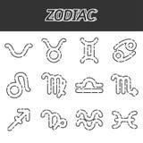 Icone dello zodiaco impostate Immagine Stock