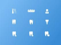 Icone dentali Immagini Stock
