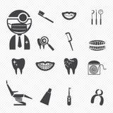 Icone dentarie Fotografia Stock