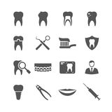 Icone dentarie di vettore Fotografia Stock Libera da Diritti