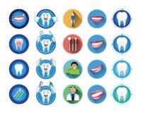 Icone dentarie messe Fotografia Stock Libera da Diritti