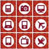 Icone di acquisto Fotografia Stock Libera da Diritti