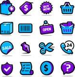 Icone di acquisto Fotografie Stock