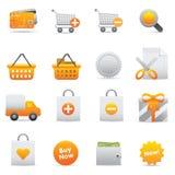 Icone di acquisto | Colore giallo 13 Fotografia Stock Libera da Diritti