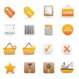 Icone di acquisto | Colore giallo 14 Fotografia Stock