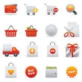 Icone di acquisto | Colore rosso 13 Fotografia Stock