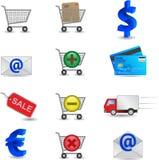 Icone di acquisto impostate Fotografie Stock Libere da Diritti