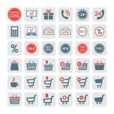 Icone di acquisto impostate Vettore Immagine Stock