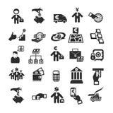 Icone di affari Fotografie Stock