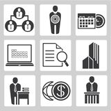 Icone di affari Immagine Stock Libera da Diritti
