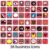56 icone di affari Fotografia Stock Libera da Diritti