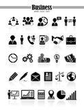 Icone di affari Fotografia Stock