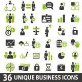 Icone di affari Immagini Stock