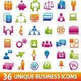 36 icone di affari Fotografia Stock Libera da Diritti
