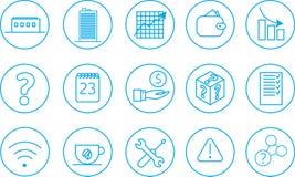 15 icone di affari Immagini Stock Libere da Diritti