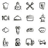 Icone di affari di approvvigionamento a mano libera illustrazione vettoriale