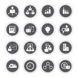 Icone di affari, bottoni rotondi Fotografia Stock Libera da Diritti