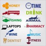 Icone di affari con testo eps10 Illustrazione di Stock