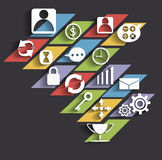 Icone di affari di vettore e progettazione del modello Fotografia Stock Libera da Diritti