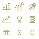 Icone di affari di web Fotografia Stock Libera da Diritti