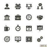 Icone di affari e dell'ufficio. illustrazione di stock
