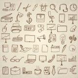 Icone di affari e dell'ufficio impostate Immagine Stock Libera da Diritti