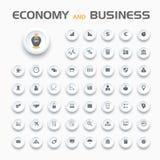 Icone di affari e di economia Immagine Stock Libera da Diritti