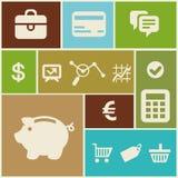 Icone di affari e di finanza di vettore Immagine Stock