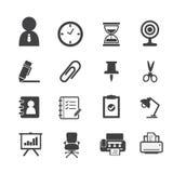 Icone di affari ed icone dell'ufficio Immagine Stock