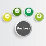 Icone di affari, gestione Fotografie Stock Libere da Diritti