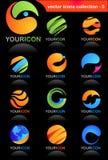 Icone di affari globali Fotografia Stock