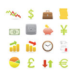 Icone di affari impostate Fotografia Stock Libera da Diritti