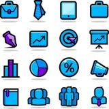 Icone di affari impostate Fotografie Stock