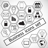 Icone di affari impostate Immagini Stock