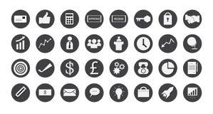 Icone di affari impostate Illustrazione ENV 10 Fotografia Stock