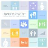 Icone di affari messe illustrazione di stock
