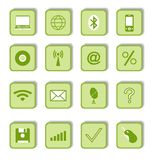 Icone di affari per il disegno di Web Fotografie Stock